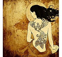 Girl with tattoo Photographic Print