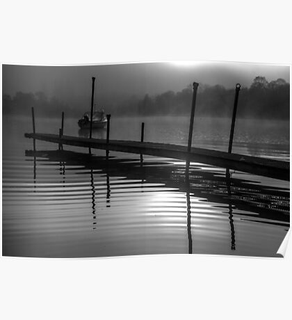 Mist on Loch Ness Poster