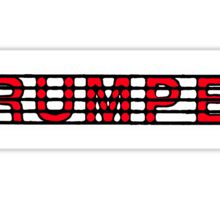Trumpetd Red II Sticker