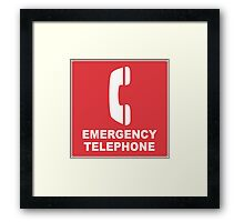 Emergency Telephone Framed Print