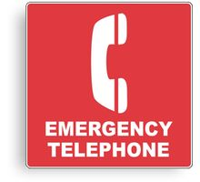 Emergency Telephone Canvas Print