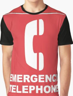 Emergency Telephone Graphic T-Shirt