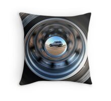On the Road Self-Portrait Throw Pillow