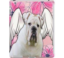 White Winged English Bulldog iPad Case/Skin