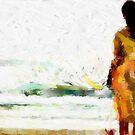 Girl on the Beach by DiNovici