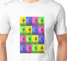 skipping girl meets andy warhol Unisex T-Shirt