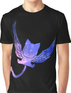 Galaxy Fairy Tail Happy Design Graphic T-Shirt