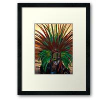 Aztec Dancer II - Bailerín Azteca Framed Print