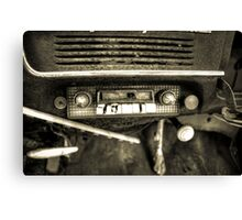 Old Car Radio Canvas Print