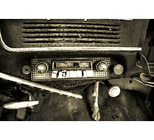 Old Car Radio Photographic Print