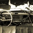 Old Car Interior by Timothy Borkowski