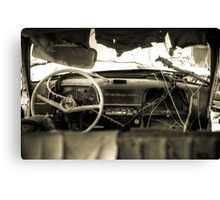 Old Car Interior Canvas Print