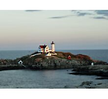 The Nubble Lighthouse, York  ME Photographic Print