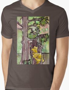 Trees with Yellow Fungus Mens V-Neck T-Shirt