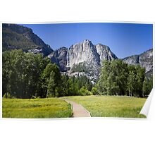 Yosemite Valley & Falls Poster