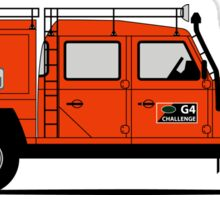 A Graphical Interpretation of the Defender 130 Double Cab High Capacity Pick Up G4 Challenge Sticker