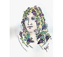 Fair Maiden with Heather in her Hair - Donna19 Photographic Print