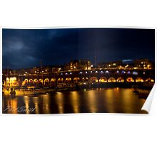 Ramsgate Harbour at night Poster