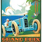 VINTAGE AUTOMOTIVE POSTER by thebikeartist