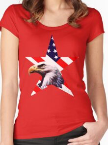 american star the Bald eagle Women's Fitted Scoop T-Shirt