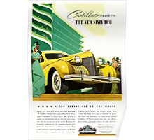1940 Cadillac Vintage Poster Poster