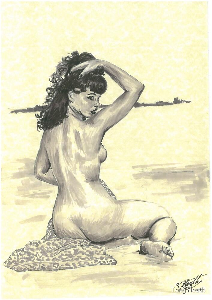 Bettie Page by Tony Heath