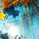 In My Shadow - Yellow Daisy Art Painting by Sharon Cummings