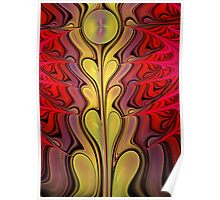 Growth, abstract fractal art Poster