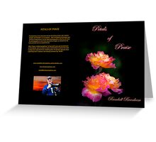book cover Petals of Praise  book for sale  Greeting Card