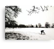 Snowman Builder Canvas Print