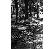 Street Cafe Photographic Print