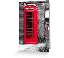 Phonebooth Greeting Card