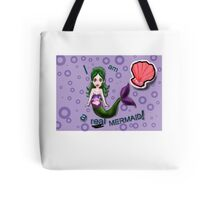 I am a real MERMAID design:bluelarge Tote Bag