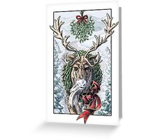 Mistletoe Messenger Greeting Card