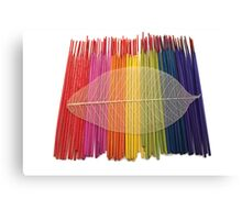 Coloured Incense and Leaf Canvas Print