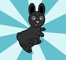 Grumpy Bunny Kung Fu Master by JannaSalak