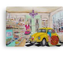 Taxi Bug's Cake Shop Canvas Print
