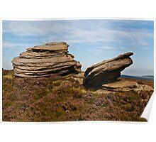 Rocks on Derwent Edge Poster