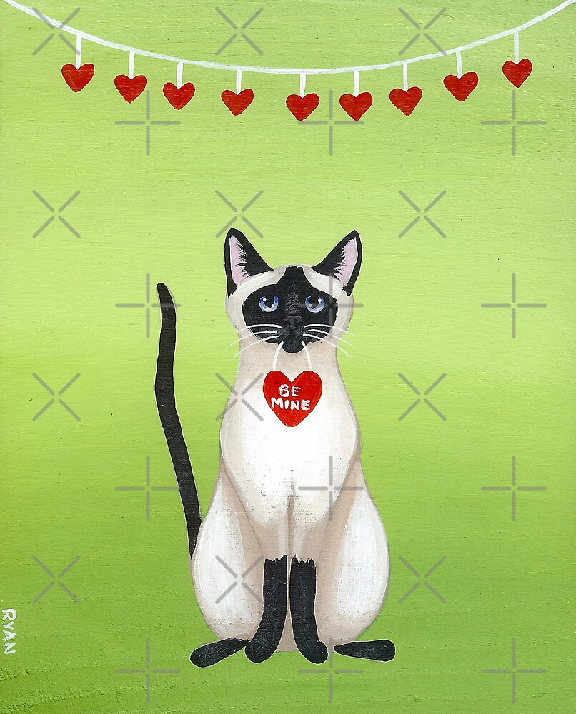 Siamese Cat Valentine by Ryan Conners
