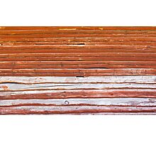 Wall of an log cabin Photographic Print
