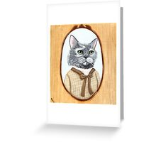 Portrait of Dahlia Cat Greeting Card