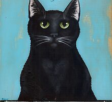 Black Cat Cafe Sign by Ryan Conners