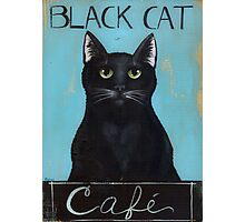 Black Cat Cafe Sign Photographic Print