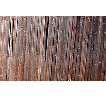 Old tilted barn wall Photographic Print