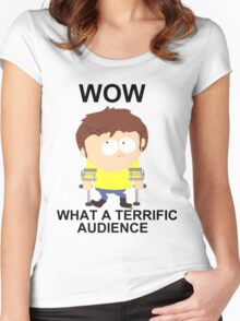Jimmy - South Park (terrific audience) Women's Fitted Scoop T-Shirt