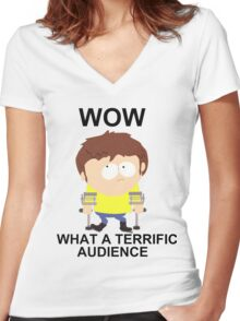Jimmy - South Park (terrific audience) Women's Fitted V-Neck T-Shirt