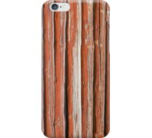 Wall of an log cabin iPhone Case/Skin