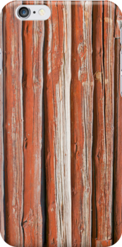 Wall of an log cabin by Kristian Tuhkanen