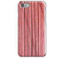 Old red plank wall iPhone Case/Skin