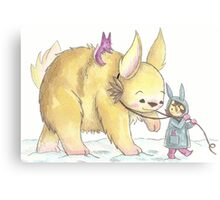 Giant Bunny Canvas Print
